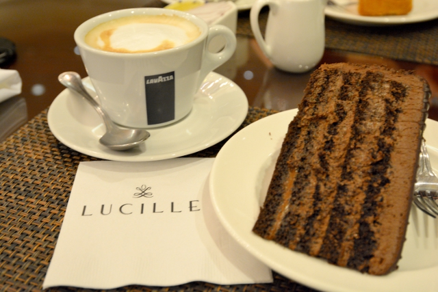 Chocolate Cake And Cappuccino