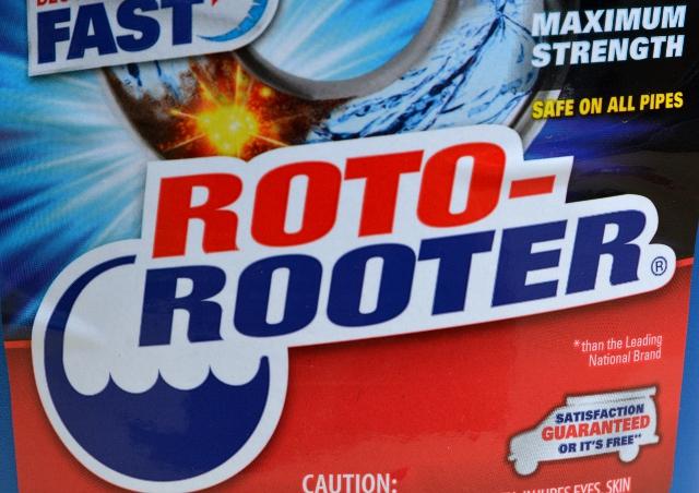 roto-rooter gel clog closeup