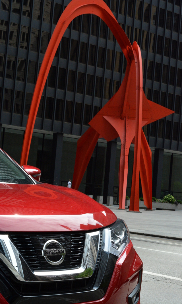 ruby rogue with chicago sculpture