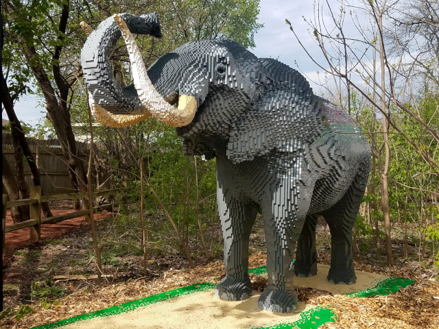 brick safari elephant