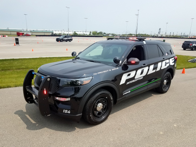 Ford Police Interceptor 2020 test track