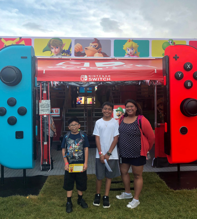 nintendo switch tour outside